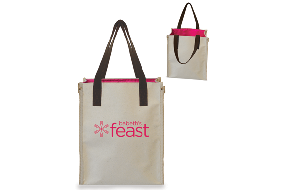 781U Event Tote with Leather Handles