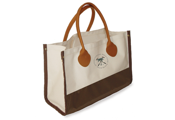 790L Fashion Tote with Spade End Leather Handles