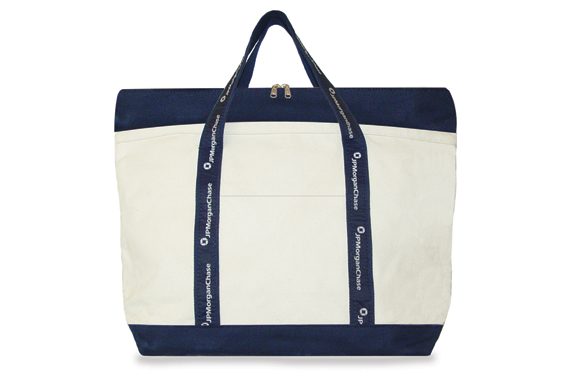 5M Two Tone Tote with Deluxe Recessed Top Zipper