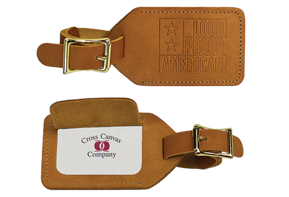 165 Leather Luggage Tag