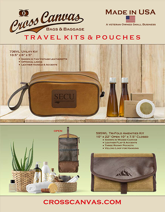 Cross Canvas Company Travel Kits & Pouches
