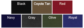 Ballistic Nylon Colors Available