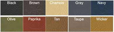 Vintage Leatherette Colors Available
